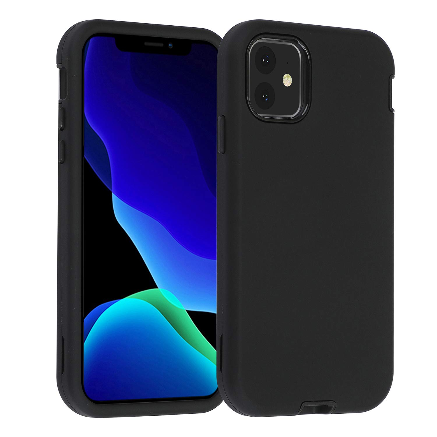 """Co-Goldguard Case for iPhone 11 2019 6.1"""" Heavy Duty Armor 3 in 1 Armor Rugged Cover Shockproof Drop-Proof Scratch-Resistant Tough Shell Design for iPhone 11 6.1 inch,Black"""