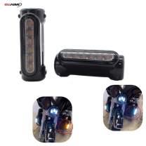 "GUAIMI Motorcycle Highway Bar Lights Smoke Lens Switchback Driving Lights Fits 1-1/4"" Highway/Crash Bars for Harley Davidson Victory Bikes-Black"