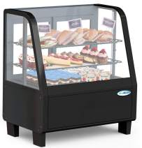 KoolMore Commercial Countertop Refrigerator Display Case Merchandiser with LED Lighting - 3.6 cu. ft, Black (CDC-3C-BK)