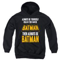 Batman Always Be Yourself DC Comics Kids Youth Pullover Hoodie & Stickers