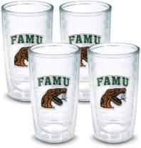 Tervis 1042447 Florida A M University Emblem Tumbler, Set of 4, 16 oz, Clear