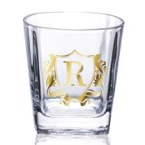 Unique Initial Whiskey Glass, Initial Old Fashioned Glass, Rocks Glass, Perfect for Dad, Christmas & Birthday Gifts