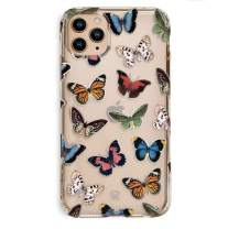 Velvet Caviar Compatible with iPhone 11 Pro Max Case Butterfly Clear for Girls, Women - Cute Protective Phone Cases (Colorful Butterflies)