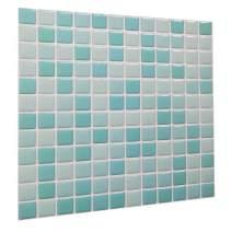 Peel and Stick Backsplash Self Adhesive Wall Tiles 3D Wall Tile Rubber Look Mosaic Wall Panels Waterproof PVC Backsplash for Kitchen Bathroom White/Light Green/Turquoise Color(1 Tiles)