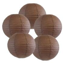 Just Artifacts 18-Inch Slate Brown Chinese Japanese Paper Lanterns (Set of 5) – More Colors & Sizes!