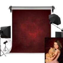 Kate 5x7ft/1.5m(W) x2.2m(H) Red Background Dark Red Backdrop Portrait Photography Backdrop Texture Photography Studio Props