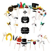 Alice in Wonderland Party Props - Holding Signs For Mad Hatters Tea Party - Huge Pack - Party Supplies