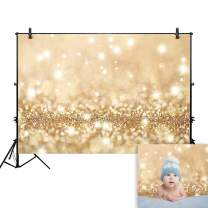 Allenjoy 7x5ft Gold Bokeh Backdrop for Studio Photography Polka Dots Shiny (no glitter) Sparkle Birthday Party Graduation Newborn Baby Shower Professional Portrait Product Photo Booth Background Props