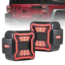 FieryRed LED Tail Lights for 2018-2020 Jeep Wrangler JL Brake Reverse Light Rear Back Up Lights Daytime Running Lamps, 1 Year Warranty,
