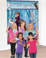 "Amscan Nature Is Magical Frozen 2 Birthday, Party Scene Setter with Props, 75"" x 64"", 17 Ct, Multicolor"