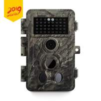 Meidase Game Trail Camera 20MP 1080P, 0.2s Trigger Time Motion Activated, No Glow Night Vision, IP66 Waterproof Cam for Wildlife Deer Hunting, Outdoor Critter Animal Scouting