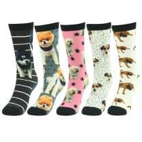 J'colour Novelty Socks, Colorful Fun Cute Soft Fashion Casaul Dress Socks