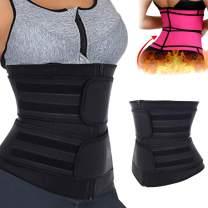 Aliwendy Sweat Waist Trainer Corset Trimmer Belt for Women Weight Loss, Neoprene Waist Cincher Shaper Slimmer