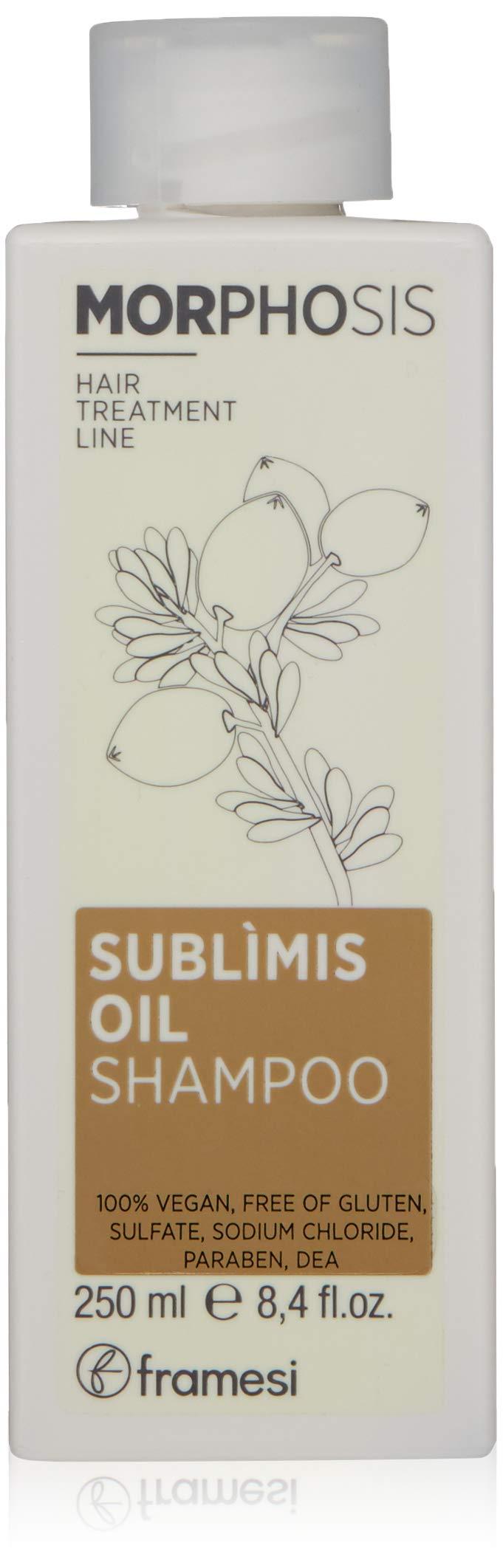 Framesi Morphosis Sublimis Oil Shampoo, Moisturizing Argan Oil Shampoo for Dry Hair