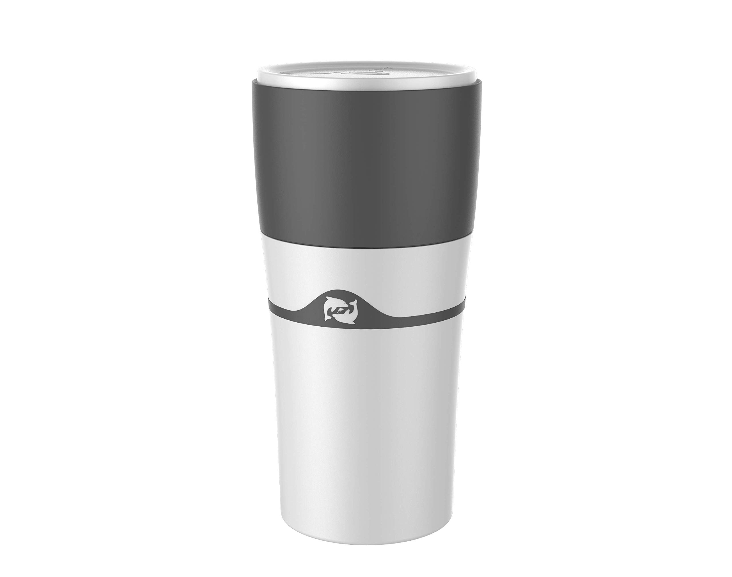 i Cafilas Cold Brew Coffee Makers Portable Drip Coffee Maker Travel Mug,Compatible with Refillable K Pods& Single-Serve Capsules,Portable Manual For Office Camping Hot and Cold Coffee Brewer (White)