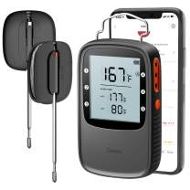 Govee Grill Thermometer, Bluetooth Digital BBQ Thermometer Clock Timer with 2 Probes, Wireless Remote Monitor Kitchen Thermometer High Accuracy Meat Thermometer for Grilling BBQ Smoker Oven Candy