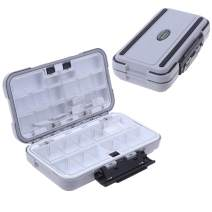 MeiMeiDa Waterproof Fishing Lure Box,Bait Storage Tackle Box Containers for Bait Casting Fishing Fly Fishing,Large/Medium Lure Case Available