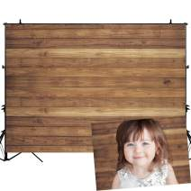 Allenjoy 7x5ft Rustic Wood Backdrop Photography Background Natural Wooden Board Newborn Baby Shower Portrait Pictures Photo Studio Prop Photoshoot Photobooth Child Birthday Party Banner