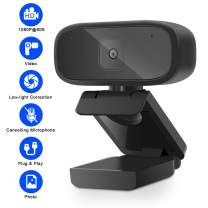 1080P HD Webcam with Microphone, USB Webcam【2020 Newest】 Computer Camera Pro Streaming Webcam for Gaming, Video Calling and Conferencing