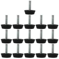 uxcell M6 x 20 x 25mm Furniture Glide Leveling Feet Adjustable Leveler Floor Protector Cover for Table Desk Leg 16 Pack