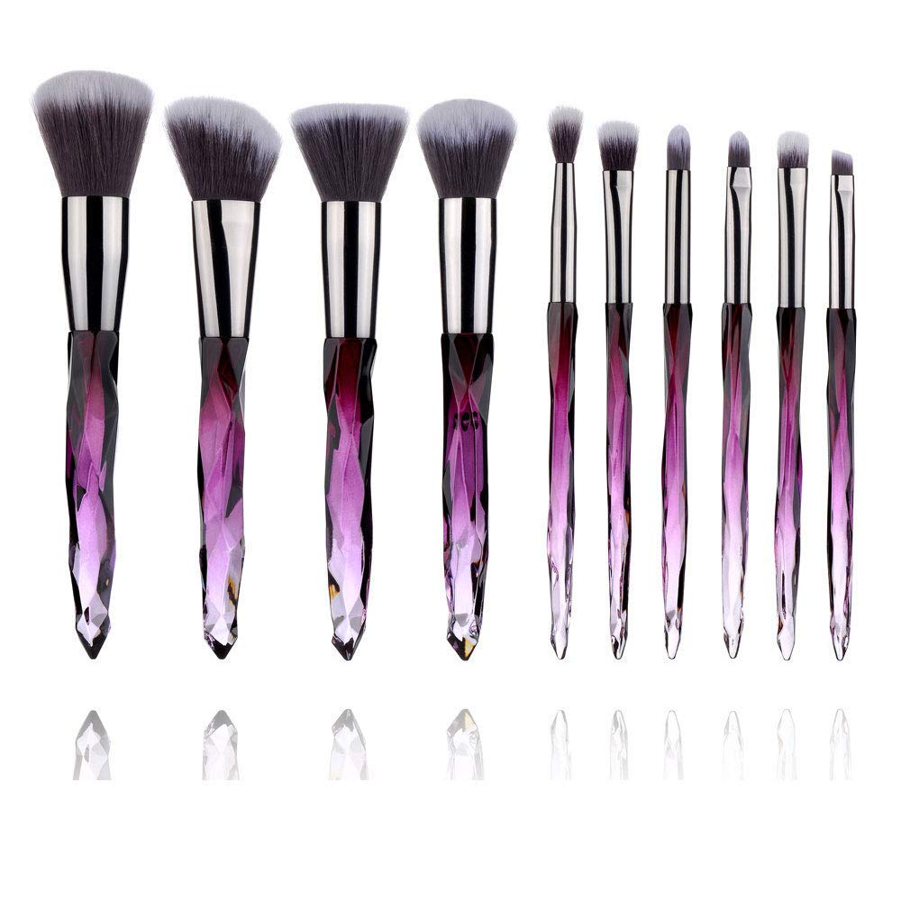 Kabuki Makeup Brushes Premium Synthetic Foundation Powder Concealers Makeup Brush Set Suitable For All Cosmetic(10 Pcs)