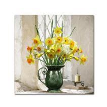 Daffodils by The Macneil Studio, 14x14-Inch Canvas Wall Art