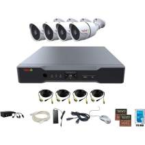 Revo America AeroHD 8Ch. 4MP DVR, 1TB HDD Video Security System, 4 x 1080p IR Bullet Cameras Indoor/Outdoor - Remote Access via Smart Phone, Tablet, PC & MAC