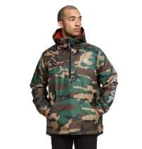 DC Men's Bolam Camo Half Zip Water Resistant Windbreaker Jacket