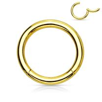 MoBody 20G-18G-16G-14G-12G-10G Hinged Nose Hoop Clicker Surgical Steel Segment Ring Septum Helix Cartilage Lip Piercing Jewelry