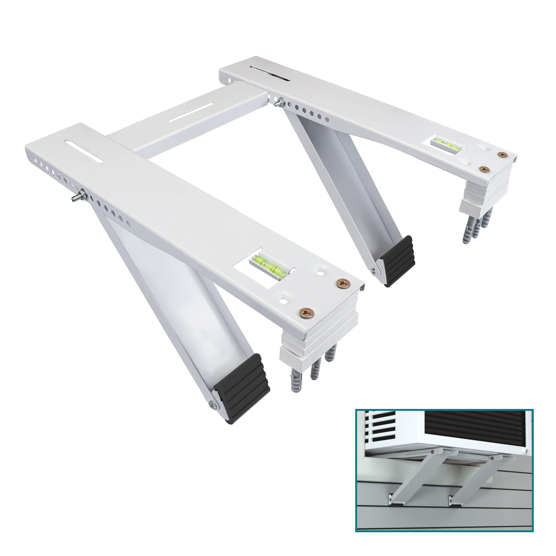 Daisypower Window Air Conditioner Bracket Supports Up to 200lbs, Fits 5000 to 22000 BTU AC Units, Heavy Duty 2 Arms Structure