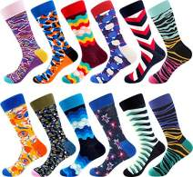 Dress Socks for Men & Women,Colorful Funny Crazy Novelty Fun Dress Socks Pack, Bonangel Cool Pattern Crew Socks Gift for Men