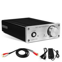 FX AUDIO Class D Amplifier—Home Audio Stereo HiFi Power Amp—80W+80W with 24V 4A Power Supply for Home System FX502SPRO(Silver)
