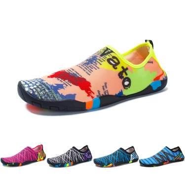 NEEKEY Womens and Mens Water Shoes,Quick-Dry Aqua Socks Barefoot for Outdoor Beach Swim Sports Yoga