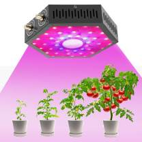 1000W LED Grow Light Full Spectrum Dual-Chip Growing Lamp for Hydroponic Indoor Plants Veg and Flower,Black