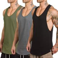 Rexcyril Men's Workout Gym Tank Top Fitness Bodybuilding Stringer Muscle Cut Sleeveless T Shirt