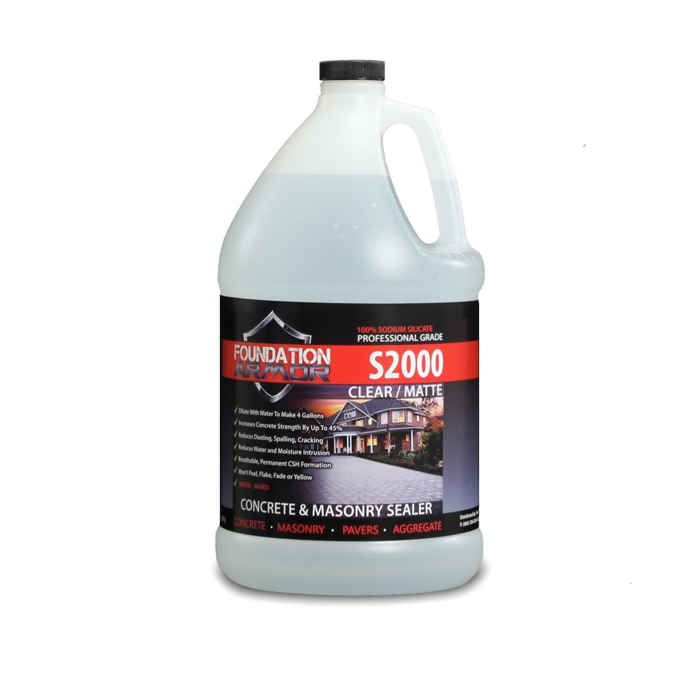 1-gal. S2000 Concentrated Sodium Silicate Concrete Sealer and Densifier (Makes 5 Gallons)