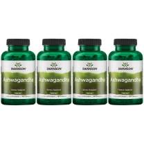 Swanson Premium Ashwagandha Powder Supplement: 450 MG Ashwagandha Root Dried Powder - Pure Ashwagandha Supplements for Stress Relief and Energy Support - 100 Gelatin Capsules (4 Pack)