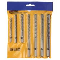 """COMOWARE Masonry Drill Bit Set- 7pcs Carbon Steel Carbide Tip Drills Through Concrete Masonry Triangle Shank Best for Brick, Masonry, Concrete, Rock, Ceramic Tile, Cement and much more, 3/16""""-1/2"""""""
