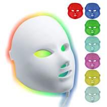 Facial LED Mask, Shake Beauty 7 Color Photon Light Skin Rejuvenation Therapy Facial Skin Care Mask