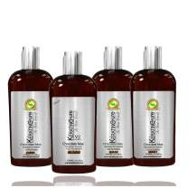Keratin Cure Best Treatment Chocolate V2 4oz 4 Piece Intensive Collagen Professional Complex with Argan Oil Nourishing Straightening Damaged Dry Frizzy Coarse Curly African Ethnic Wavy Hair