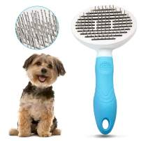 EDUPLINK Dog Brush Cat Brush No Pull Dog Grooming Brushes Dog Hair Brush with Rounded Pin Comfortable Self Cleaning Pet Brush for Dogs and Cats with Long or Short Hair Blood Circulation