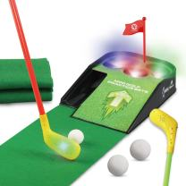 UBOWAY Mini Golf Putting Green Putting Mat Set with Sound Effect for Kids, Toddlers, Golf Beginner