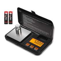 WAOAW 200 x 0.01g Digital Jewelry Scale with Calibration Weight Portable Stainless Steel Pocket Scale Grams and Ounces, 0,001oz Resolution