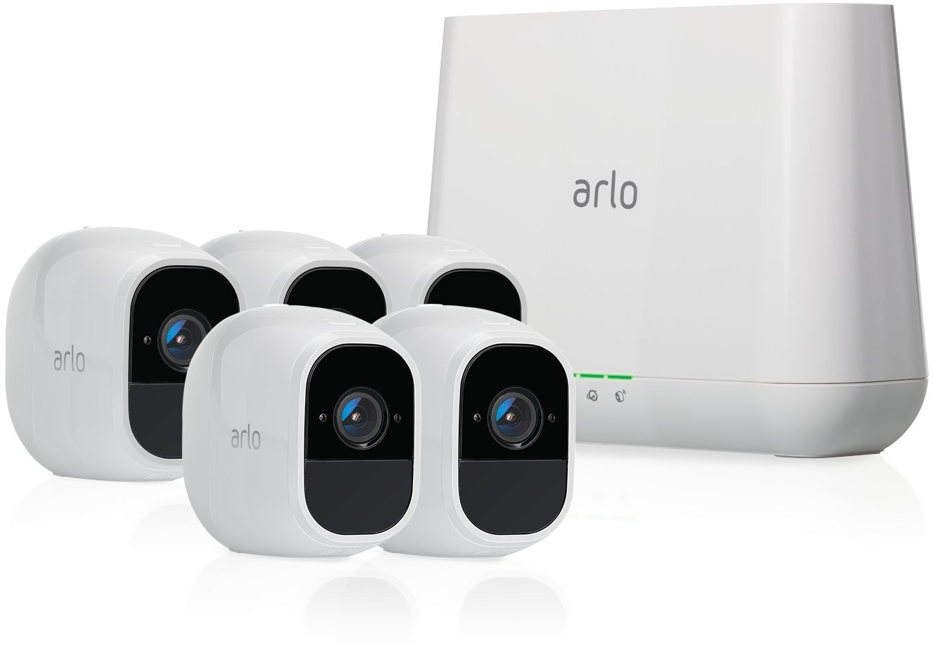 Arlo Pro 2 - Wireless Home Security Camera System with Siren | Rechargeable, Night vision, Indoor/Outdoor, 1080p, 2-Way Audio, Wall Mount | Cloud Storage Included | 5 camera kit