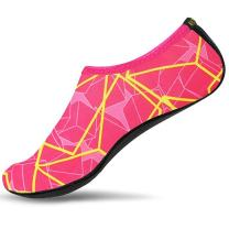 Water Shoes, Mens Womens Anti Slip Aqua Socks for Beach Water Park Walking- Protects Against Sand, Rocks