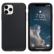 OUXUL Case for iPhone 11 Pro Max Liquid Silicone Gel Rubber Phone Case,iPhone 11 Pro Max 6.5 Inch(2019) Full Body Slim Soft Microfiber Lining Protective Case(Black)