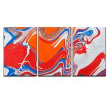 """wall26 - Abstract Paint Texture Background - Canvas Art Wall Decor - 24""""x36""""x3"""