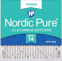 Nordic Pure 18x18x1 MERV 14 Pleated AC Furnace Air Filters 2 Pack
