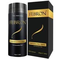 FEBRON Hair Fibers For Thinning Hair LIGHT BROWN Giant 30G For Women & Men Hair Loss Concealer Hair Powder Volumizing Based 100% Undetectable & Natural - Bold Spots Filler