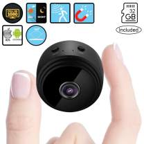 Spy Camera Wireless Hidden -SendCord Mini Spy Camera -Wireless Video Wi-Fi Hidden Camera Spy Cameras -Small Security Camera Wireless -Alarm Hidden Camera -Nanny Cam with Night Vision incl.32GB SD Card